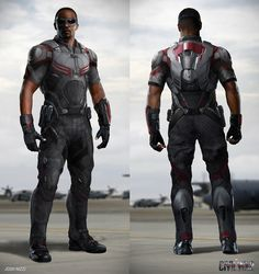 Concept art of 'Falcon' with 'Redwing' for 'Captain America: Civil War' (2016)