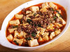 Mapo Dofu (Tofu) with Ramps from Serious Eats (http://punchfork.com/recipe/Mapo-Dofu-Tofu-with-Ramps-Serious-Eats)