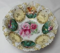 RS-Prussia-Antique-Deeply-Scalloped-10-1-2-Serving-Bowl-Hand-Painted-Flowers