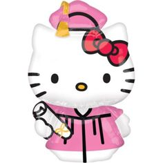 Foil Hello Kitty Graduation Balloon 50in - Party City.  This is the cutest balloon.  It's huge and makes a great gift for a graduate.