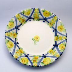 Alle Teller der Familie BlueHoria-Berdea! Die Blau-Gelb-Grüne Designfamilie von Unikat-Keramik. Das wohl einzigartigste Keramik Geschirr der Welt!