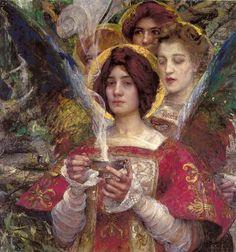"""Edgar Maxence, """"L'Âme de la Forêt,"""" 1898."""