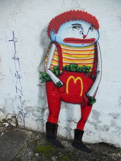 #streetart #cranio  RONALD MCDONALDS by CRANIO., via Flickr