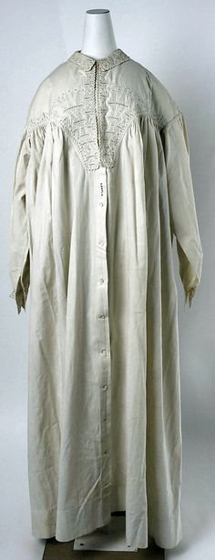 Peignoir Date: 1830s Culture: American Medium: cotton