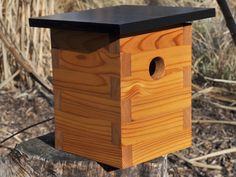 Modern Bird House Chickadee No 4 Great Father's by modernnestco