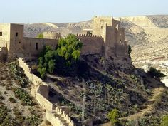 Almería - Alcazaba  Abd al-Rahman — the first caliph of Al-Andalus — ordered the construction of the Alcazaba in 955.   +++ Robert's blog posts about Spain:  http://bovington-posts.blogspot.com.es/  http://bobbovington.blogspot.com.es/  http://bovingtonphotosofspain.blogspot.com.es/