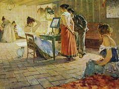 """Telemaco Signorini, """"La toeletta del mattino"""", 1898, olio su tela. Milano, collezione privata"""