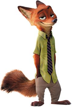 Nick Wilde is a popular character from Disney animation Zootopia. Disney Zootropolis, Heros Disney, Disney Wiki, Disney Love, Zootopia Characters, Zootopia Art, Cartoon Characters, Nick Wilde, Disney Animation