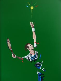 a fab exhibition; not to be missed this summer Andy Murray Kim Sears, Murray Tennis, Davis Cup, Wimbledon Tennis, Vintage Tennis, Tennis Quotes, Sports Art, Sports Photos, Tennis Players
