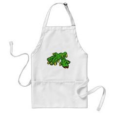 Zombie Monster Dead Hand Green Adult Apron - retro kitchen gifts vintage custom diy cyo personalize