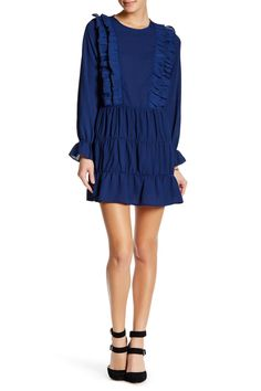 Long Sleeve Ruffle Dress by AFTER MARKET on @HauteLook