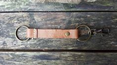 Leather Keyring Leather Keyholder Handmade Leather by Marcyniuk