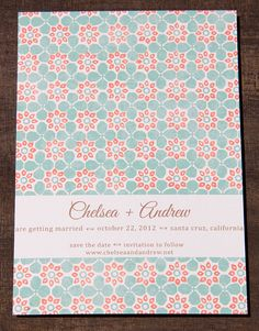 Beachy Floral Save The Date by CameronDolanDesigns on Etsy, $3.75