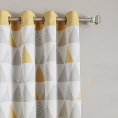 Mixed Triangle Print Room Darkening Thermal Curtain Panels