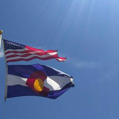 Today is the first Monday of August which means it's Colorado Day! In fact this year was especially significant in that the Monday celebrating Colorado Day fell on August 1st. It was on this date 140 years ago that Colorado was admitted to the Union as the 38th state. #colorado #coloradoday #flags
