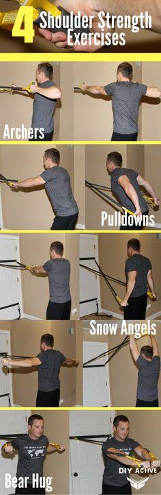 Have Shoulder Pain? 4 Shoulder Strength Exercises @DIYactiveHQ #workout #shoulder