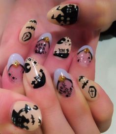 cute halloween acrylic nails