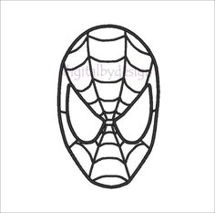 This is the pattern I used to print out and copy for the Spider-Man cake I made.