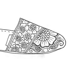 New Mehndi Design $100.00  This design has not been created yet, so you have the creative freedom to customize how you want!  #TOMS #Henna #Shoes