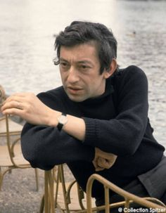 """When they buried Serge Gainsbourg in Montparnasse Cemetary, his funeral brought Paris to a standstill. French President François Mitterrand said of him, """"He was our Baudelaire, our Apollinaire. He elevated the song to the level of art. Serge Gainsbourg, Gainsbourg Birkin, Charlotte Gainsbourg, Baby Food Jars, French President, Provocateur, Rainy Day Activities, Beatnik, Jane Birkin"""