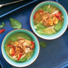 Thai Chicken and Rice Soup.  Easy soup to alter to dietary restrictions.