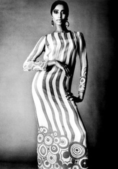 Donyale Luna in a gorgeous dress, 1960s.