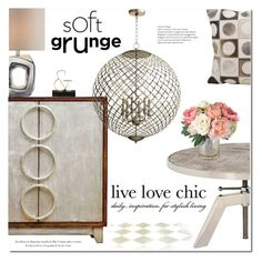"""""""Live Love Chic"""" by ansev ❤ liked on Polyvore featuring interior, interiors, interior design, home, home decor, interior decorating, Cyan Design and Nourison"""
