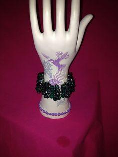 Three strand teal celestial  bracelet. by SassyGirlJewelrycom, $35.00