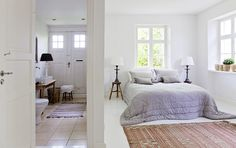TineK's gorgeous master bedroom with an en suite bathroom from MRS JONES' blog