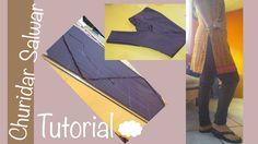 ★ How to make a perfect Churidar Salwar ★bias cutting / Aadaa Pajama  ♥ ...