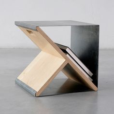 Steel stool I love the sobriety of the steel stool prototype by Noon studio, created according to their philosophy of using honest materials and simplicity of execution.