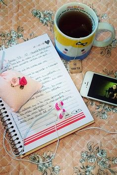 journaling and tea time