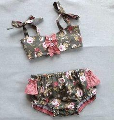 Gidget girl s bikini sewing pattern retro swimsuit pattern girl sewing pattern kids swimwear sizes 3 4 5 6 Baby Bikini, Baby Swimsuit, Bikini Girls, Bikini Swimsuit, Baby Outfits, Kids Outfits, Kids Swimwear, Swimsuits, Trendy Swimwear