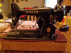 Singer 99K.  This machine sews perfectly, and very quietly!  Love it!