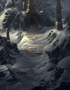 Mountain Fortress by Grosnus (DA)