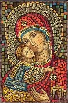 Polish Art Center - Matka Boska Wlodzimierska - Our Lady of Wladimir Mosaic Icon