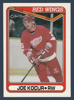 Joey Kocur RC # 55 - 1990-91 O-Pee-Chee Hockey NHL Rookie