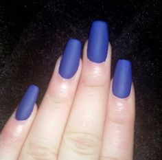 OPI'S infinite shine dark blue with a matte finish
