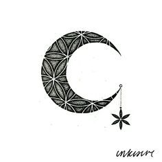 moon x flower of life mandala
