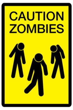 Caution Zombies Sign Plastic Sign Wall Signs Plastic Sign - 30 x 46 cm Tool Party, Zombie Apocolypse, Zombie Party, Humor Grafico, Sale Poster, Office Art, Cool Posters, Poster Prints, Art Prints