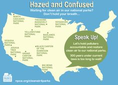 TOUCH this image: Hazed and Confused: Restore clean air to our national parks! by NPCA