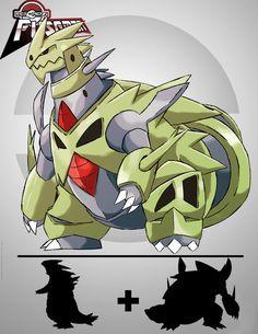 Pokémon Fusion Tyraniggron by rey-menn on DeviantArt Pokemon Fusion Art, All Pokemon, Pokemon Fan Art, Fantasy Dragon, Dragon Art, Blue Jurassic World, Pokemon Official, Pikachu, Pokemon Pokedex