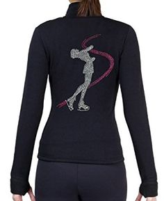 Figure Skating Polar Fleece Fitted Jackets by Polartec with Rhinestones R234RP (Adult Small)