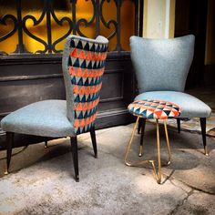 Creative  #homedecor #armchairs & #pouf covered with  #HarlequinFW & #Scion #fabrics , #texture and #luxury #velvet