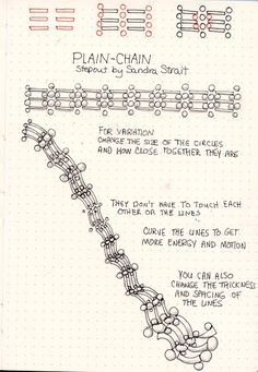 Plain-Chain, a new tangle pattern #Zentangle #Zentangle-InspiredArt #TanglePatterns