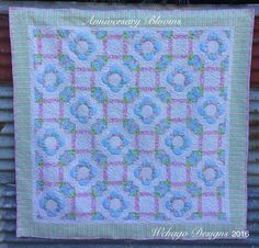 """I added """"Wehago Designs: Anniversary Blooms"""" to an Quilt Festival, Hand Quilting, Patches, Bloom, Quilts, Blanket, Crochet, 30th Anniversary, Posts"""