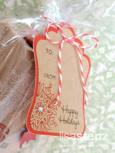 Lisa's Creative Corner - Gift Tag made with CTMH Artiste Cricut Cartridge