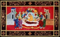 The Plaschanitsa [Epitaphion] for the Dormition of our Holy Mother / Detail