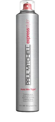 Hold Me Tight™  Finishing Spray    Secures any style with a strong, long-lasting hold. Enhances shine and reduces flyaways. Dries fast without stiffness or build-up.  Powerful, flexible polymers provide strong hold.  Vegetable-derived conditioners and shine enhancers impart high shine and minimise static.