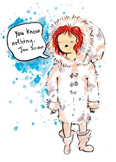 Ygritte 8.5x11 inch print, Game of Thrones fan art. Watercolor painting. Jon Snow. on Etsy, $10.00